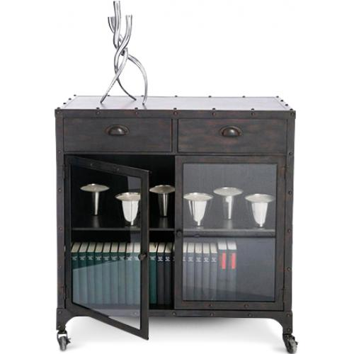 Credenza gambe a forcina in stile vintage industriale for Mobili tinello
