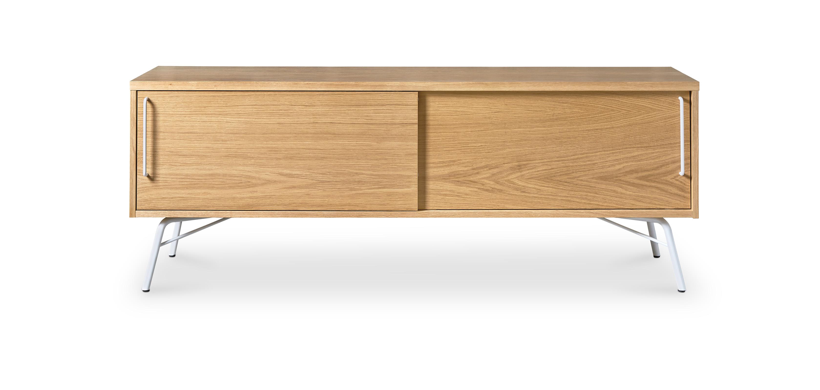 Mobile Tv in legno naturale di stile scandinavo