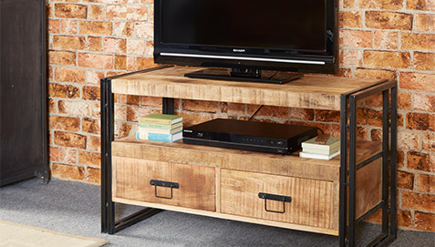 Mobile tv in stile industriale vintage - Industrial style mobel ...