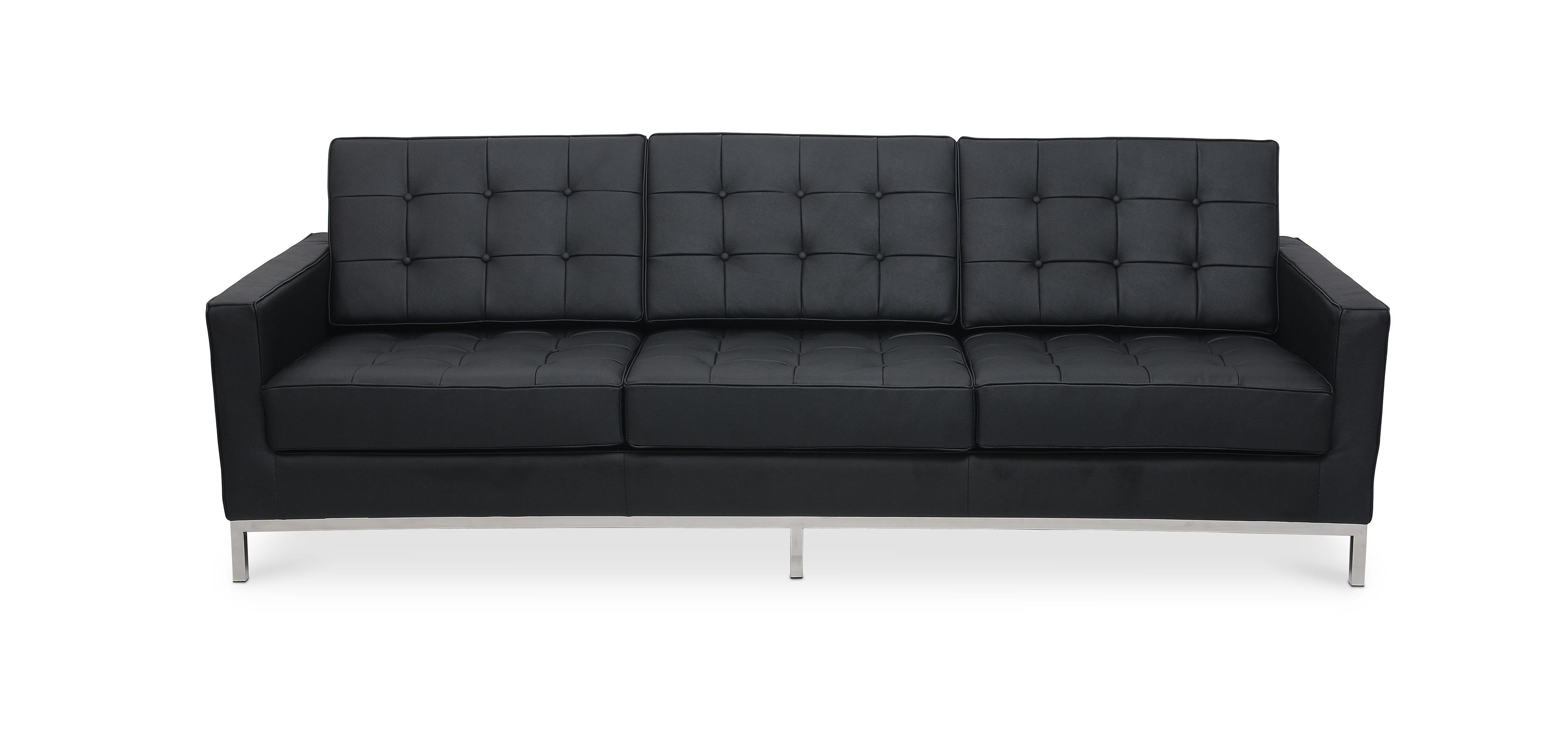 divano florence knoll 3 posti pelle. Black Bedroom Furniture Sets. Home Design Ideas