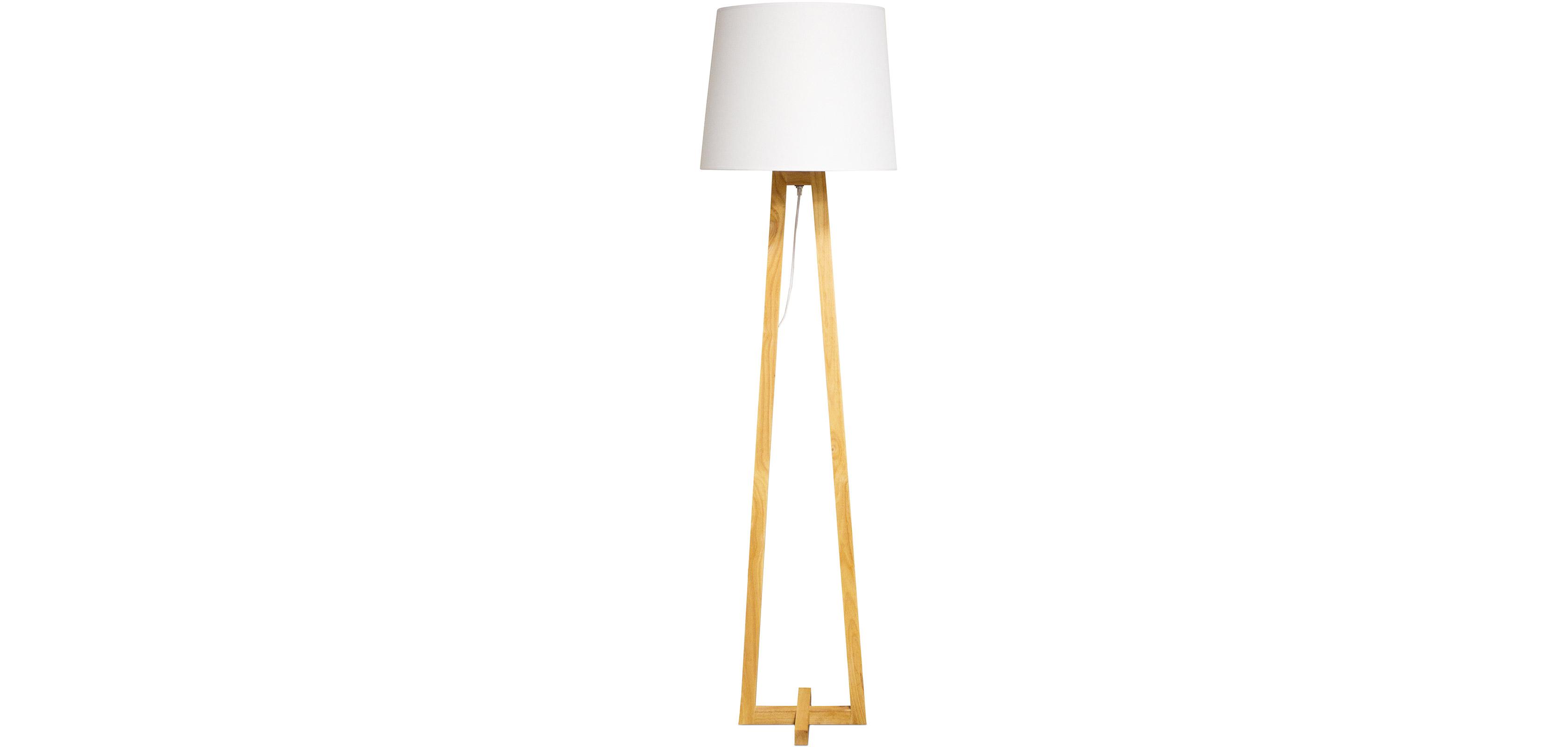 Lampada da terra stile nordico legno