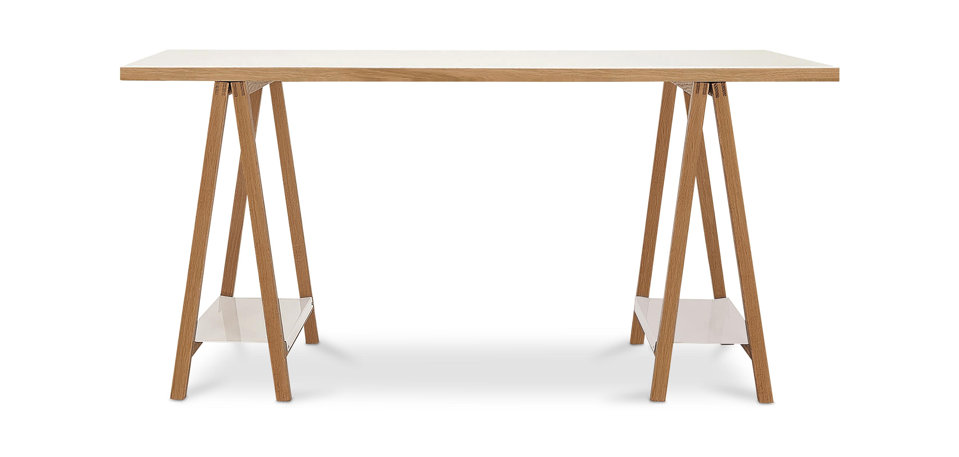 Tavolo di legno con cavalletti stile scandinavo - Tavolo scandinavo ...