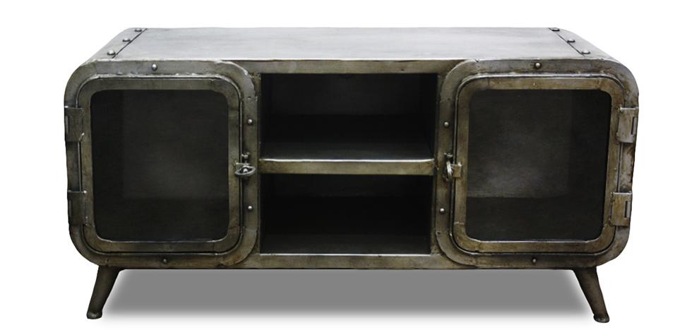 mobile tv industriale antique vintage grange&co ferro