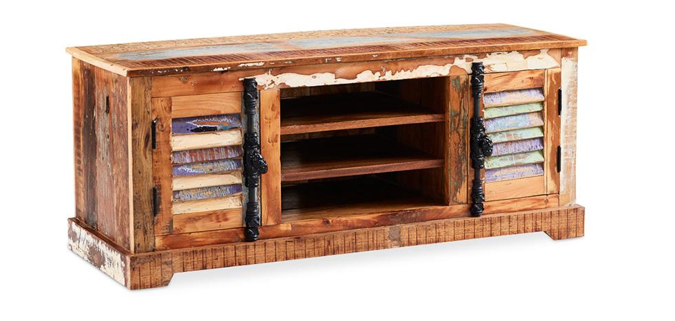 Mobile TV Vintage in legno riciclato - Seaside