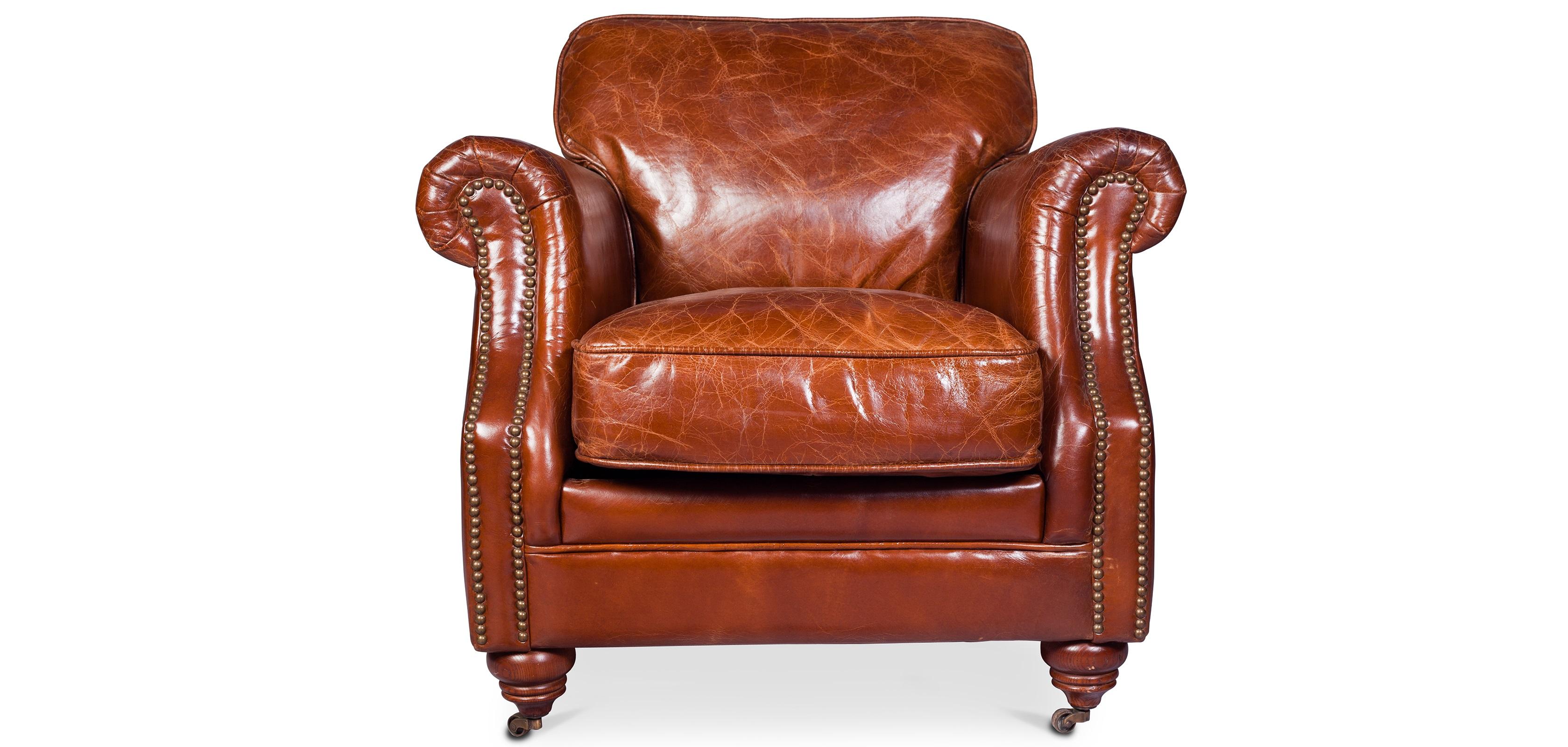Poltrona vintage lounge pelle premium
