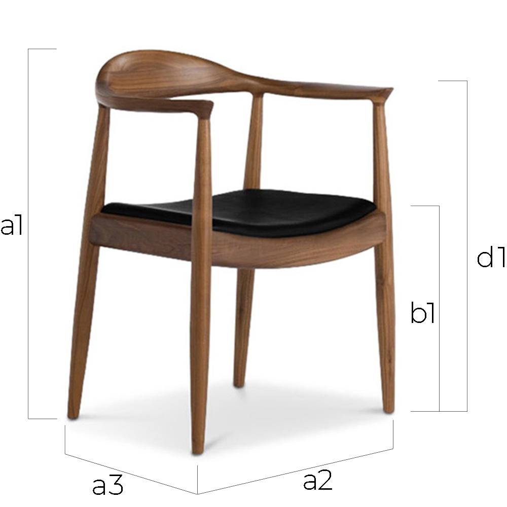 Sedia stile scandinavo Alan - similpelle